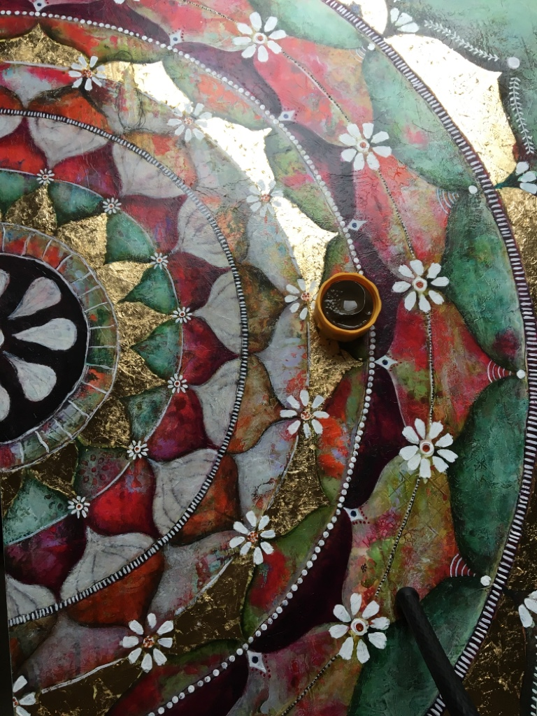 Mandala Gemaelde Blattgold