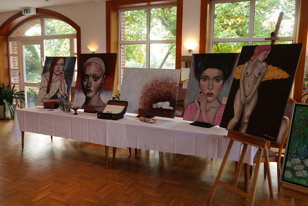 Kunstausstellung Heidener Herbst www.ateliertantetrulla.de