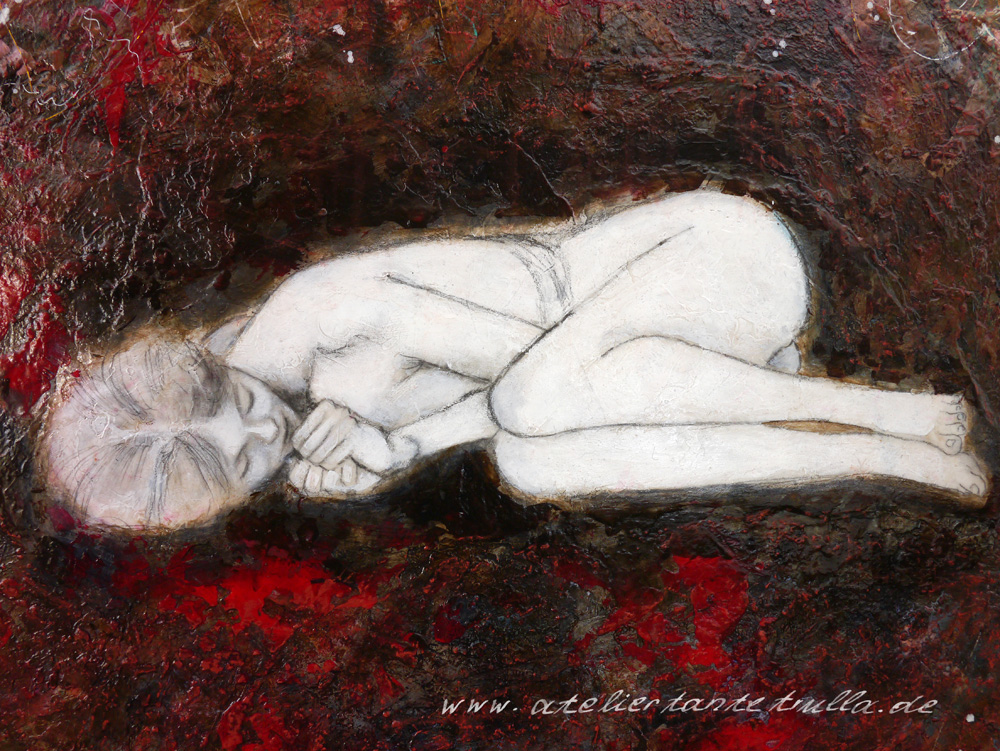 """In her safe nest"", www.ateliertantetrulla.de"