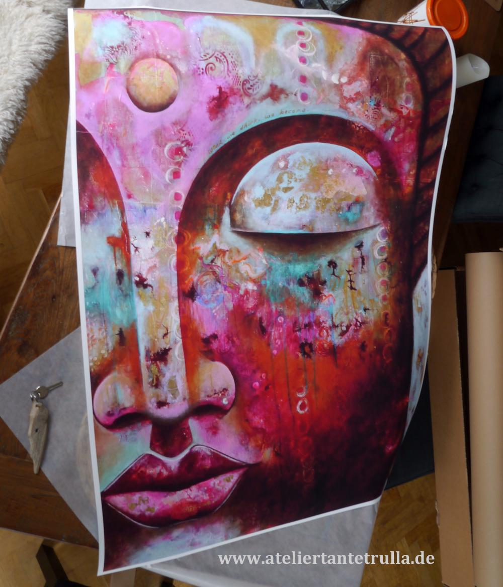 Kunstdruck Buddha