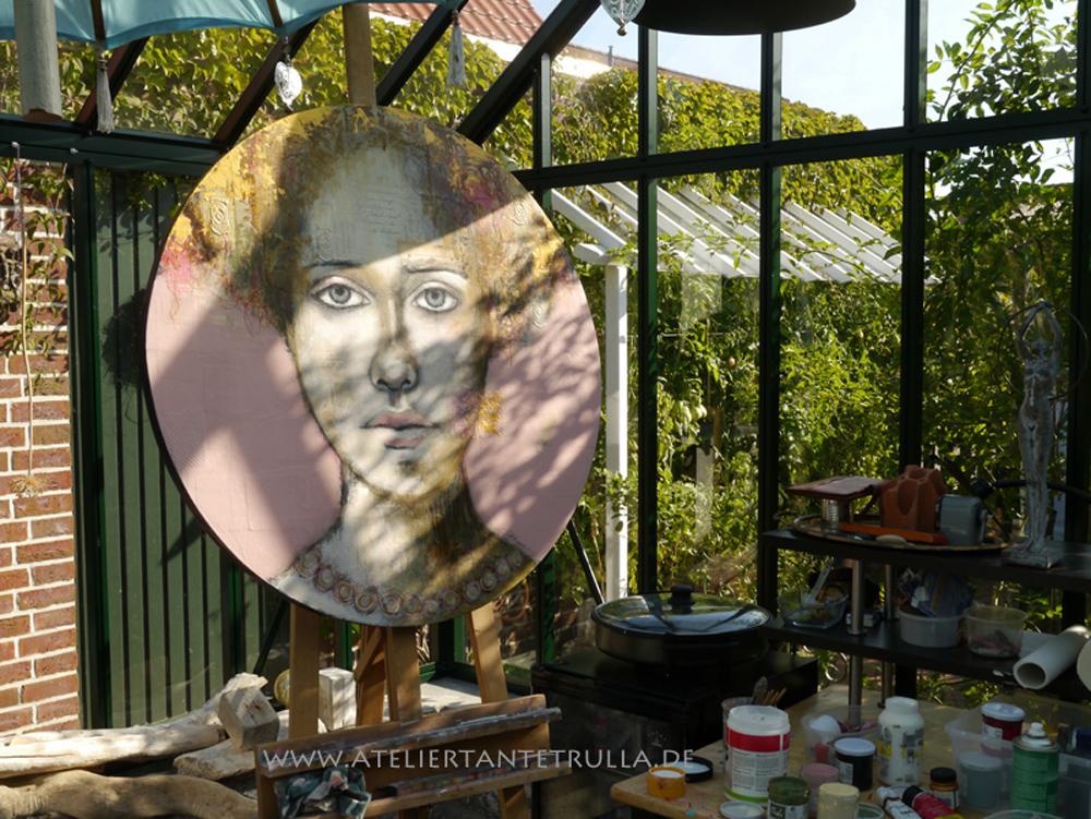 Malen im Gewächshaus