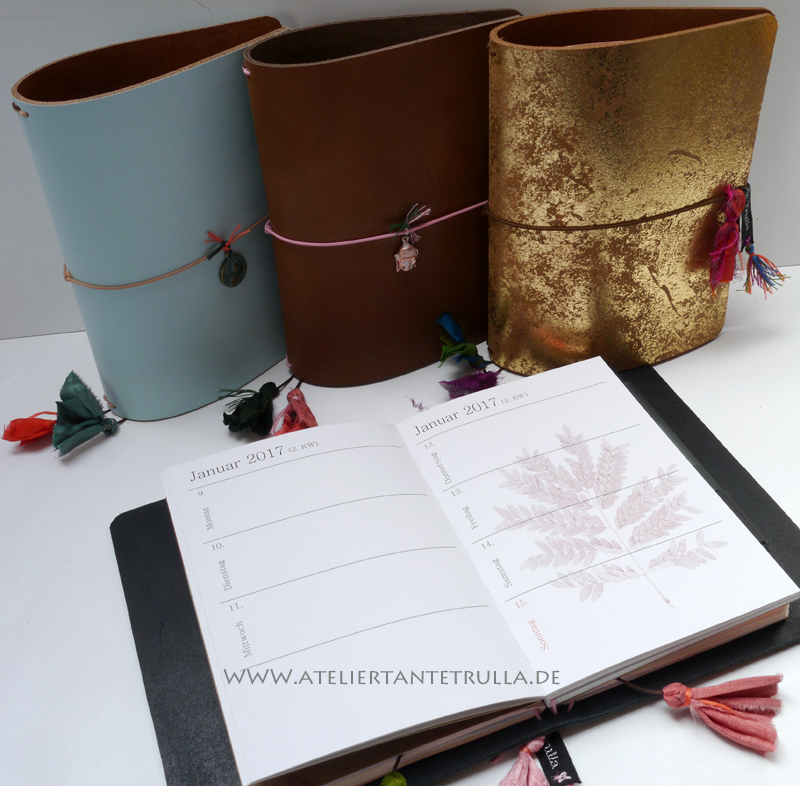Travelers Notebooks mit Sari Seide