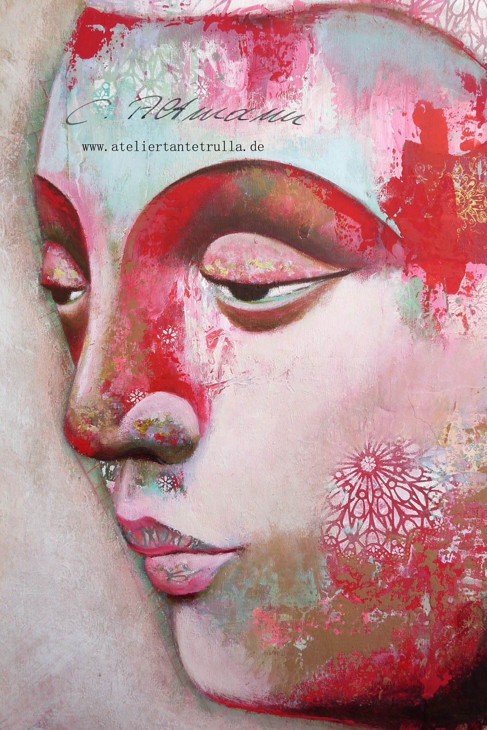 buddha painting by Conni Altmann, www.ateliertantetrulla.de