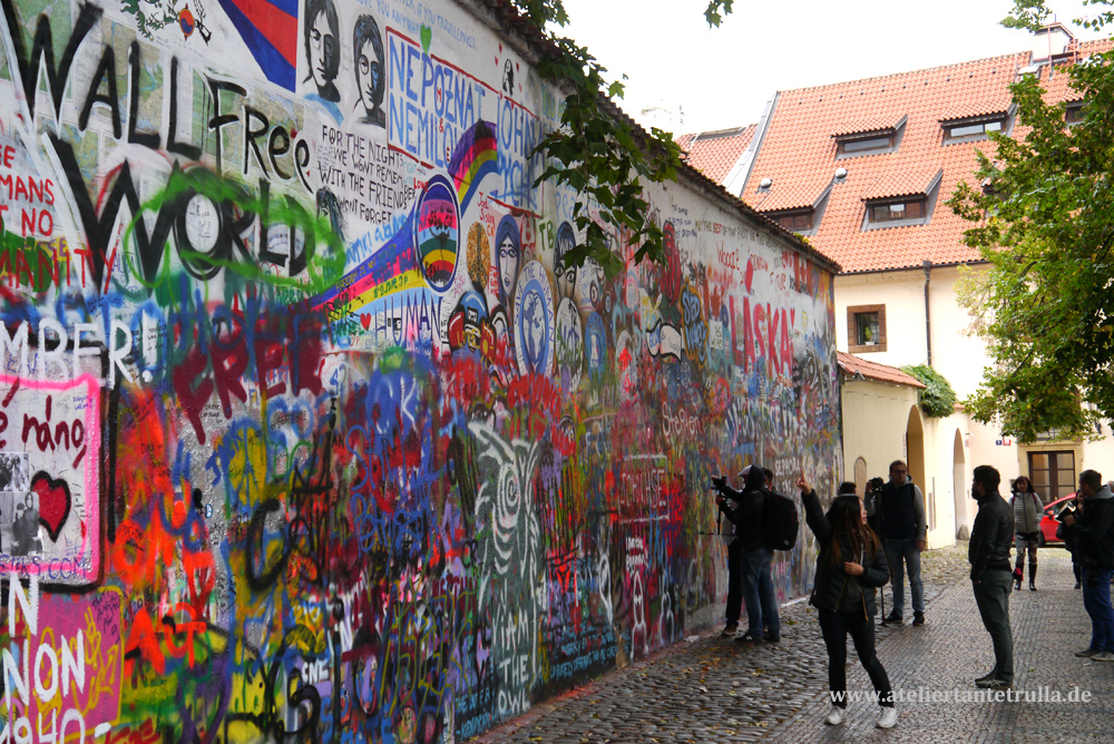 John Lennon Mauer in Prag