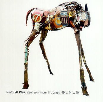 Pistol   SOLD  found object sculpture