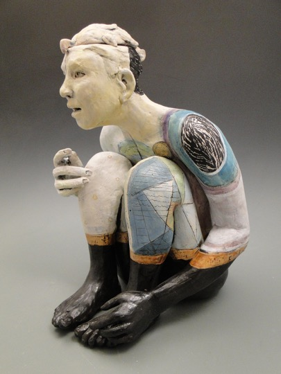 Open to New Dreams, ceramic by Linda Lewis