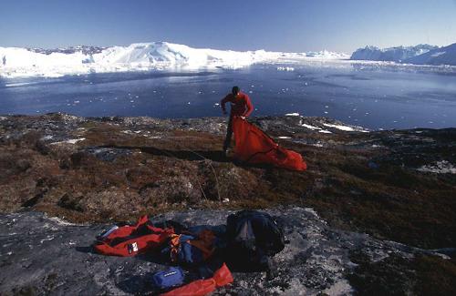 Reisefotograf-Juergen-Sedlmayr-Zelt/Grönland