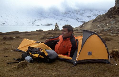 Reisefotograf-Juergen-Sedlmayr-Zelt/Nepal