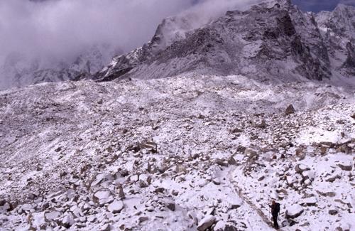 Reisefotograf-Juergen-Sedlmayr-Gletscher/Nepal
