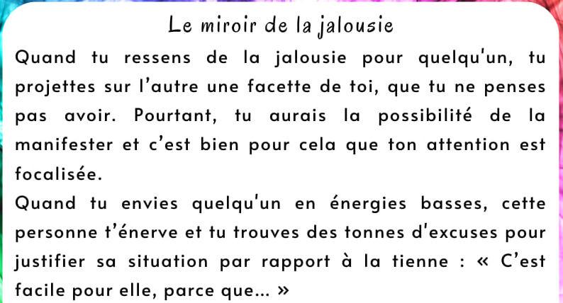 Le miroir de la jalousie