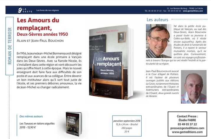 les amours du remplaçant par Alain et Jean-Paul Bouchon - editions La Geste
