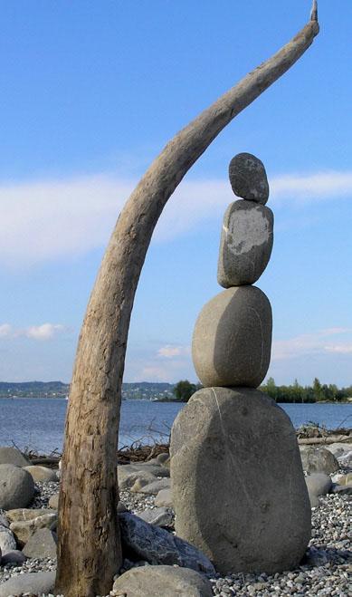 Kunst mit Steinen