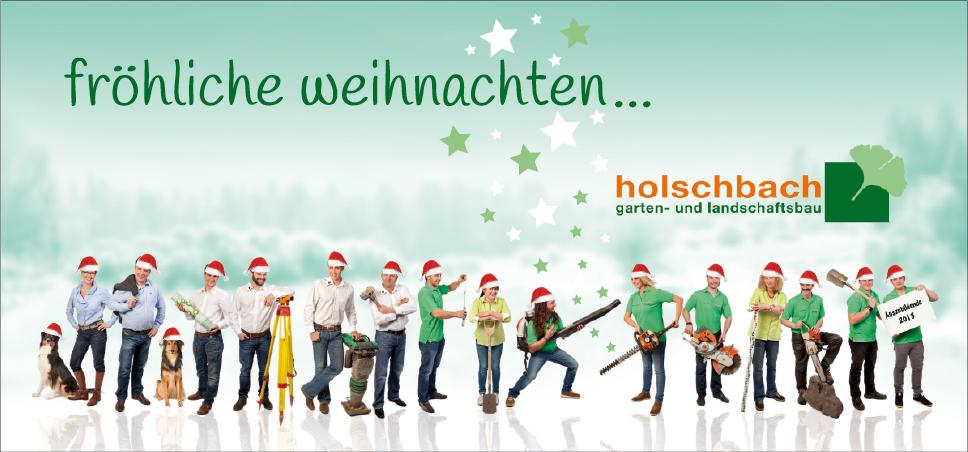 Weihnachtskarte Vorderseite Flyer DIN lang