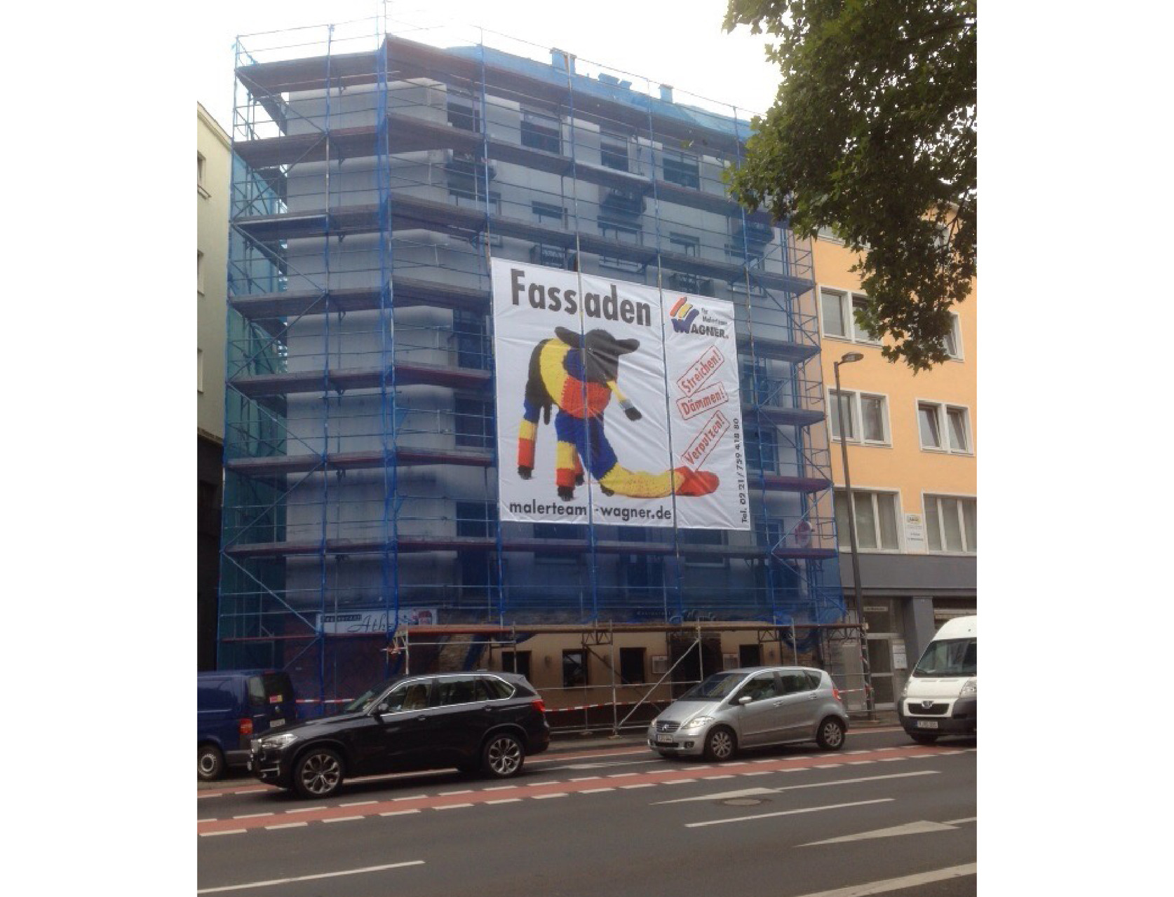 Gerüstbanner Heumarkt Köln