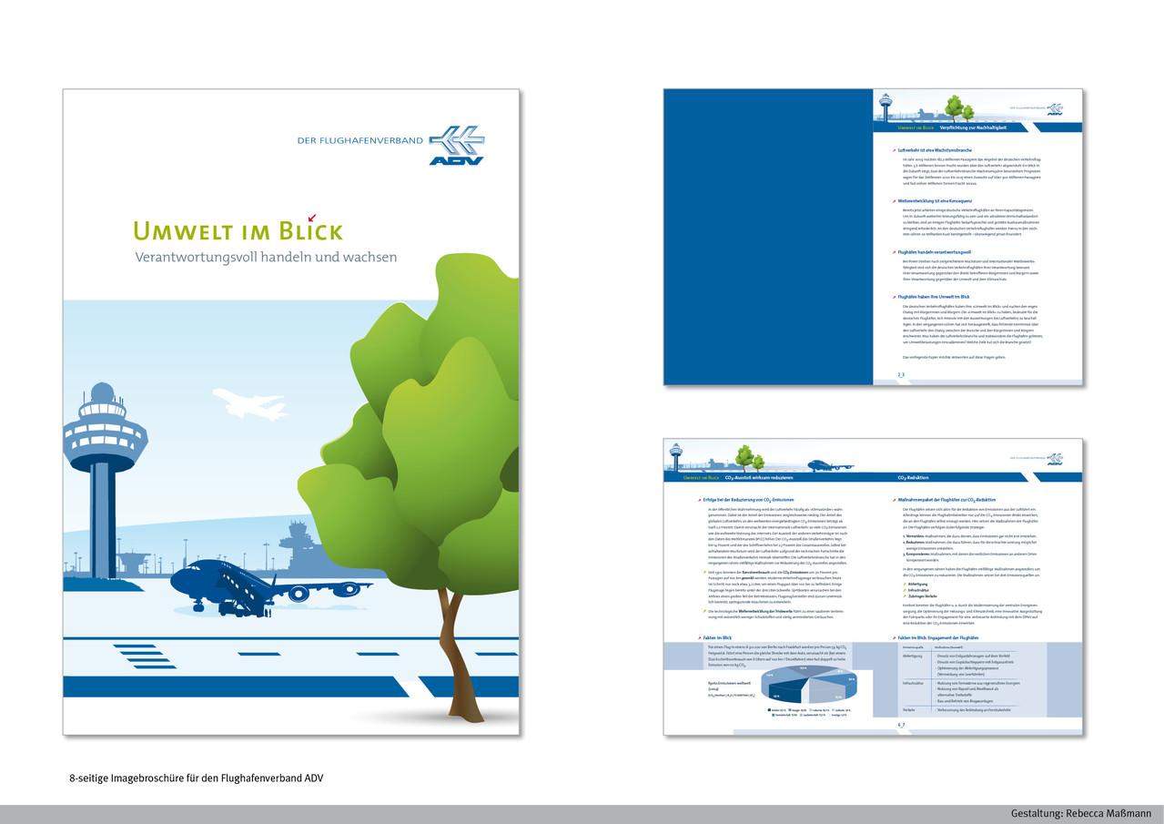 Imagebroschüre »Umwelt« | Kunde: Flughafenverband ADV