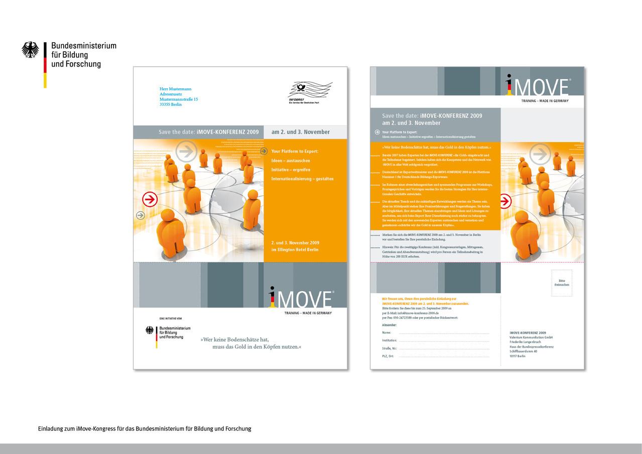 Einladung iMove-Kongress | Kunde: Bundesministerium für Bildung und Forschung, BMBF