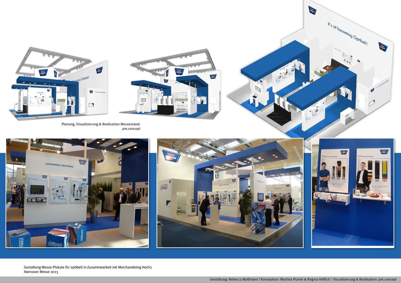 Messe-Gestaltung | Kunde: optibelt |  Realisation in Kooperation mit merchandising-hoch2.de | Visualisierung: pm concept