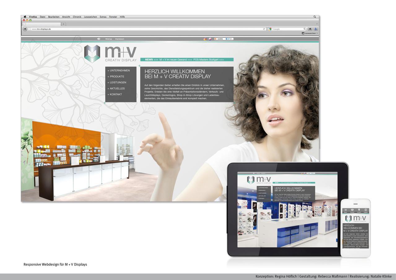 Responsive Webdesign | Kunde: M + V Displays |  www.mv-displays.de