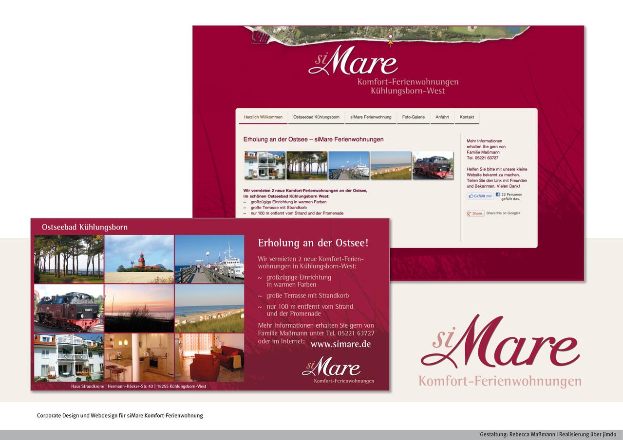 Corporate Design und Webdesign | Kunde: siMare Komfort-Ferienwohnung| www.simare.de