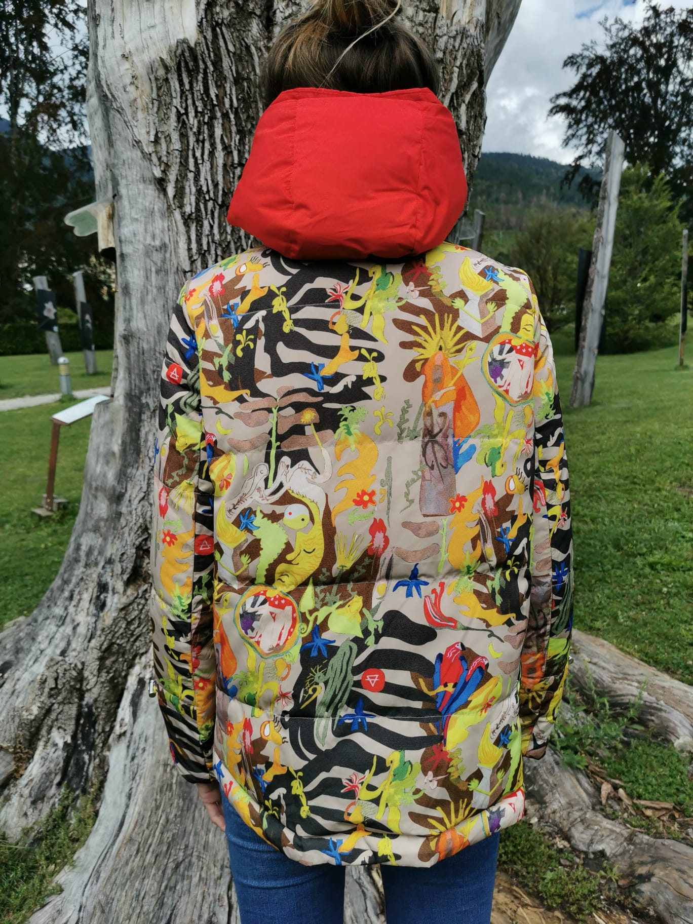 PARKA ROSSO DOUBLE FACE