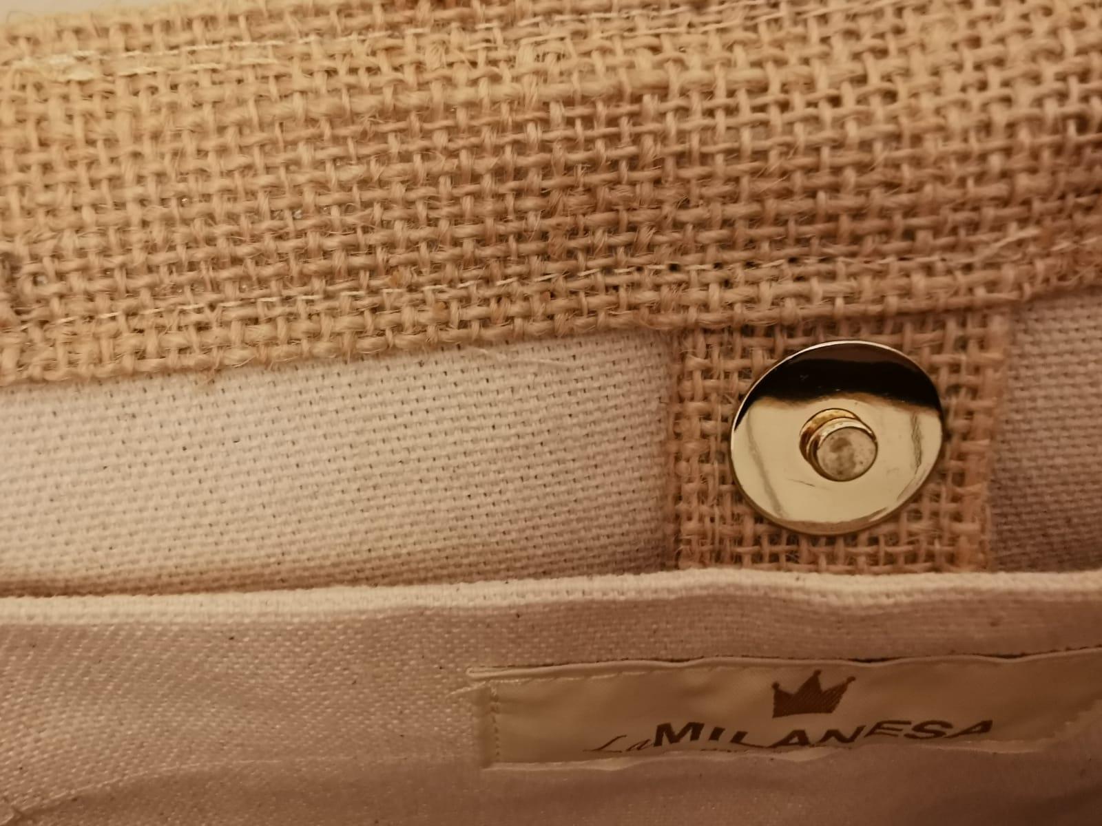 BORSA in tessuto cotone e seta  LA MILANESA