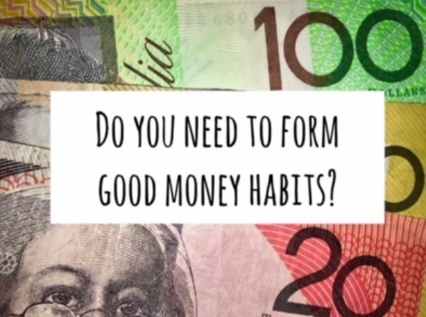 Form good money habits. Make your budget easy. spending, saving money, budget