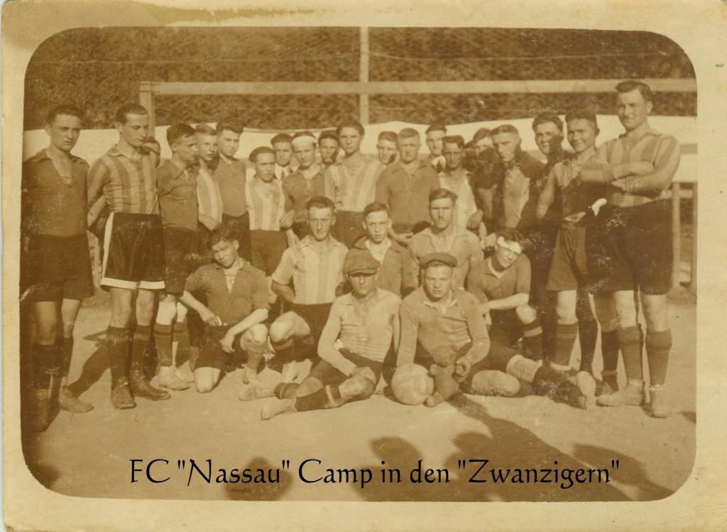 """FC """"Nassau"""" Camp in den """"Zwanzigern"""""""