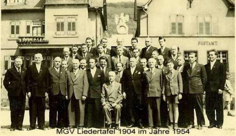 """MGV """"Liedertafel"""" 1954"""