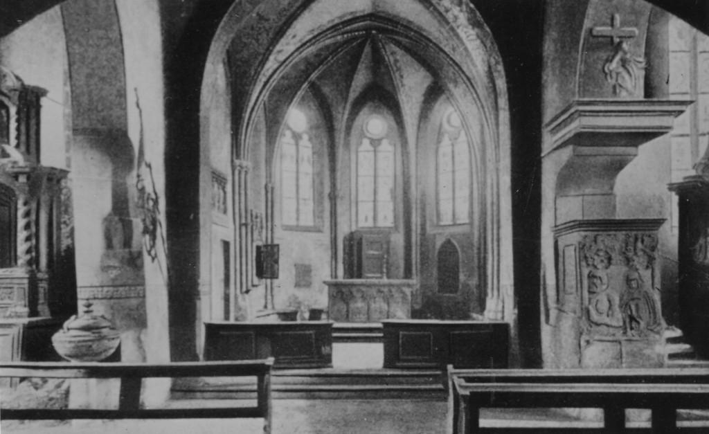 1920er Jahre / Inneres der alten Kirche