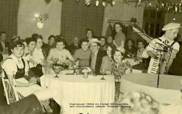 Karneval 1949 im Gasthaus Stolzenfels/ Kirchenchor