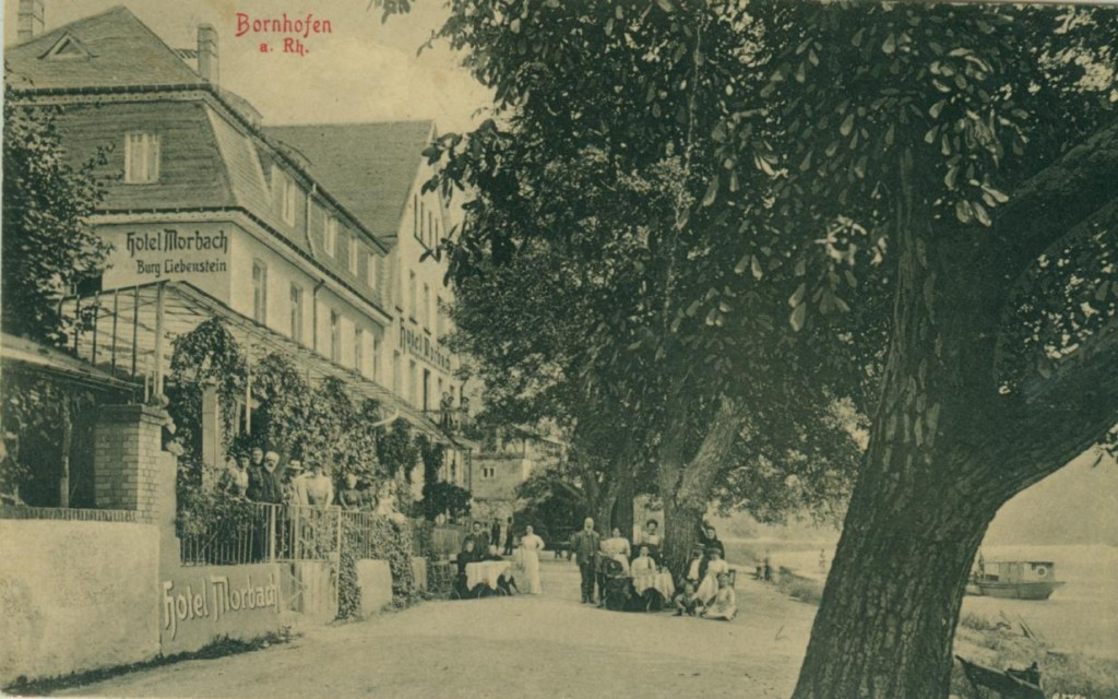 Bornhofen vor dem Bau der damaligen Reichsstraße