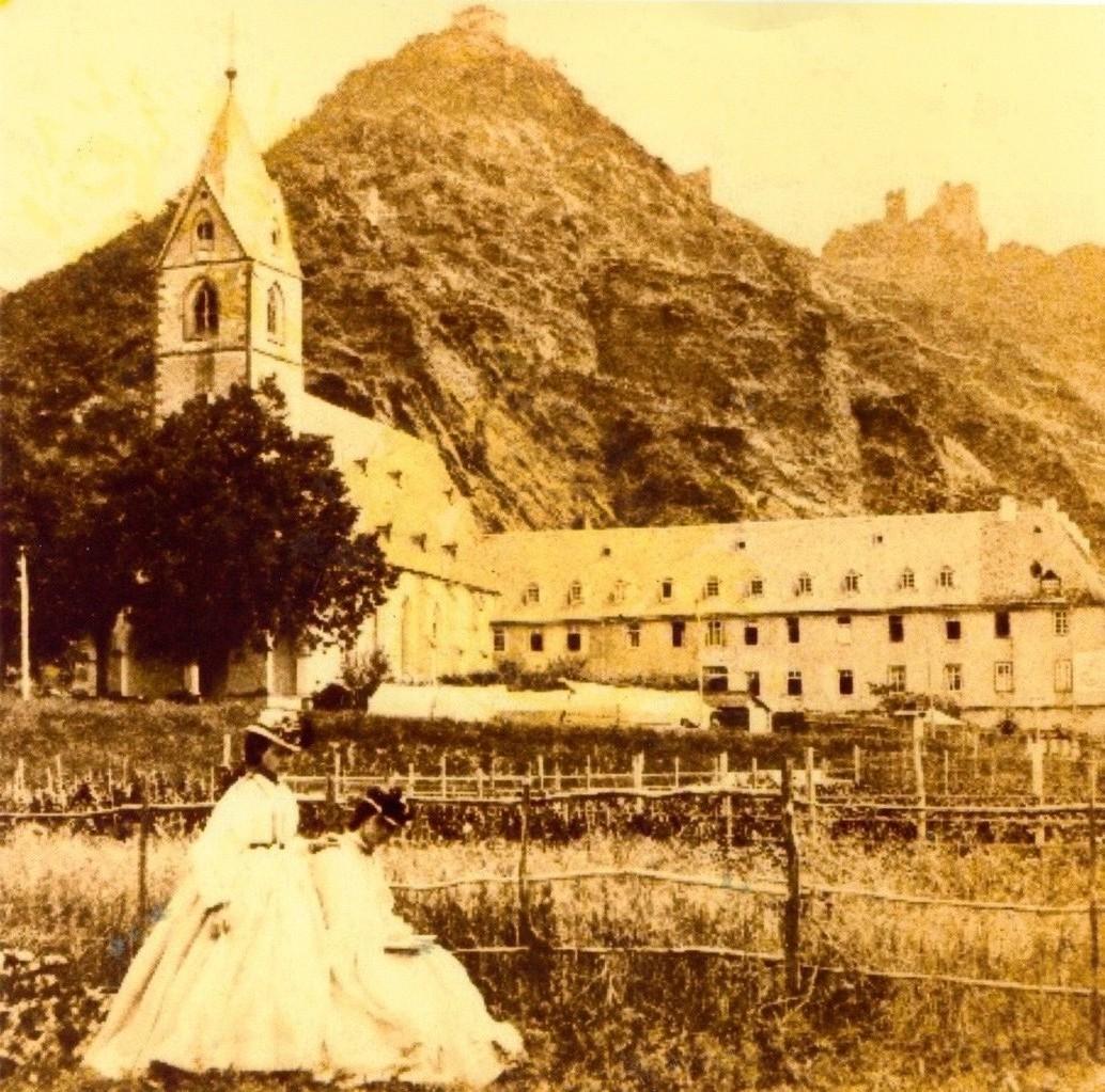 Erstes,bekanntes Foto: Bornhofen 1860-1870
