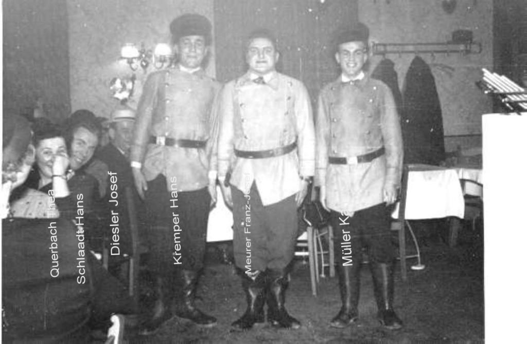 Karneval 1954 / Persiflage auf die Wieder-Aufrüstung