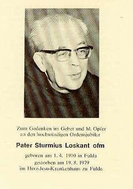 1979 Pater Sturmius verstorben