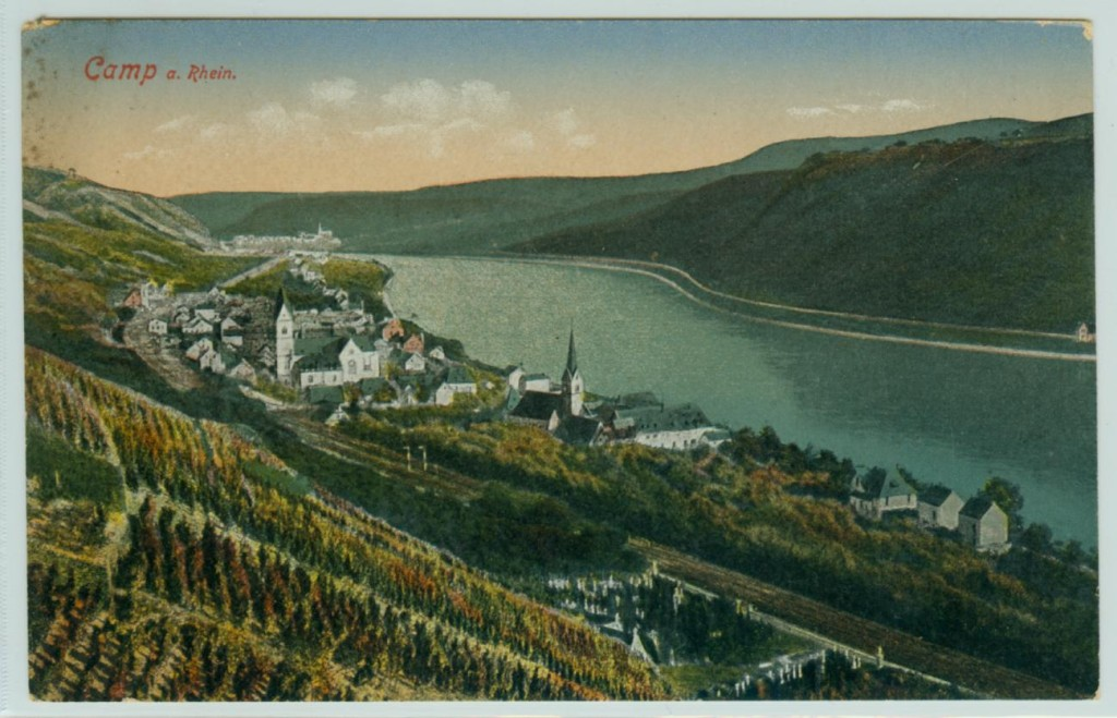 Die Kamper Rebhänge um das Jahr 1900