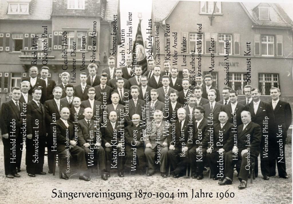 Sängervereinigung 1870-1904