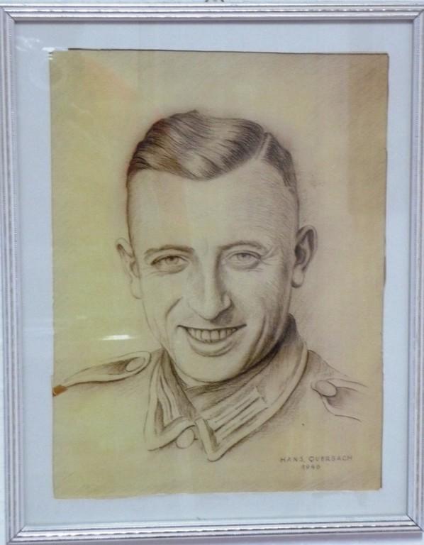 Hans Querbach: Soldatenbild - Bleistiftzeichnung