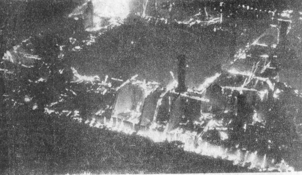 1949 Brand des Klosters Bornhofen