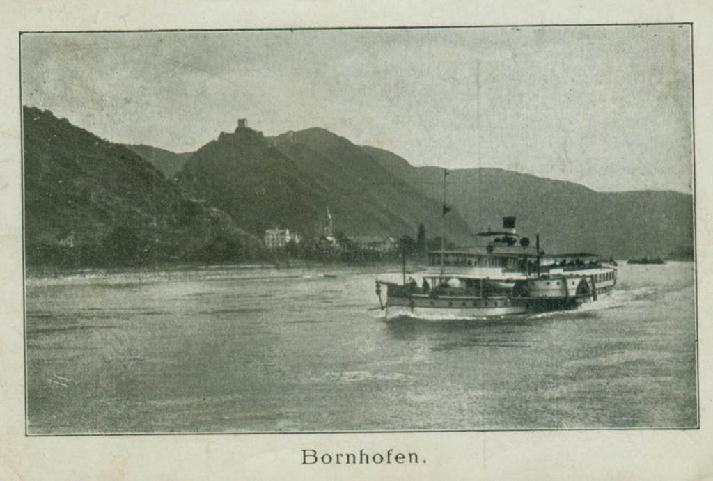 Bornhofen und die Dampfschiffahrt