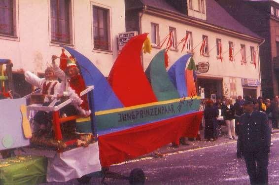 Karneval 1972 Kinder-Prinzenpaar Olaf Rist & Ursula Meurer