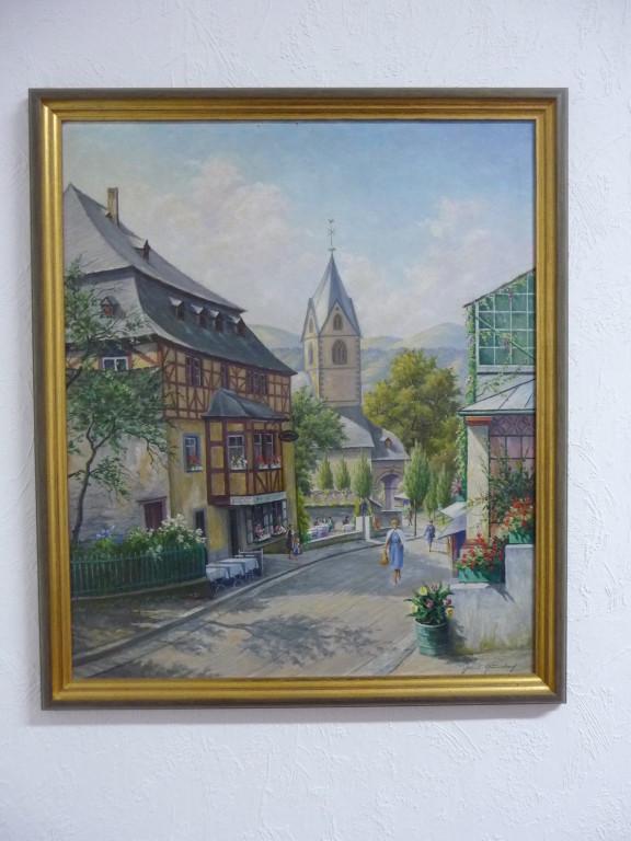Hans Querbach / Burgenstraße- Bornhofen - Ölgemälde