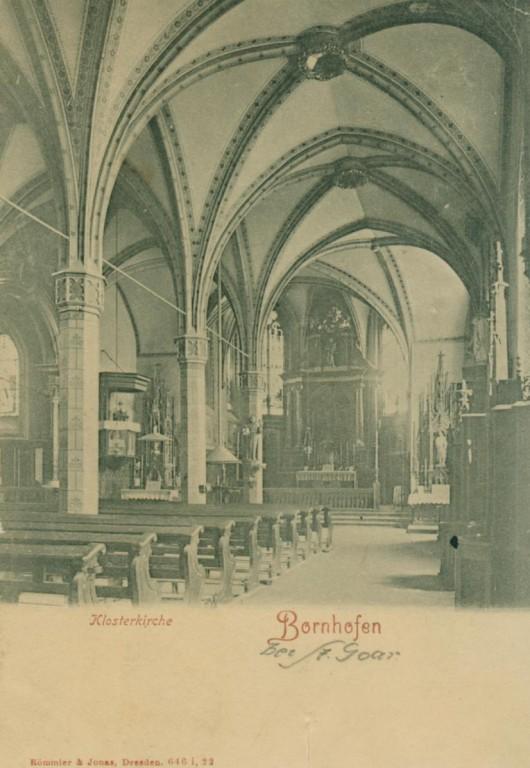 Bornhofen . Kircheninneres Anfang 20. Jahhrhundert