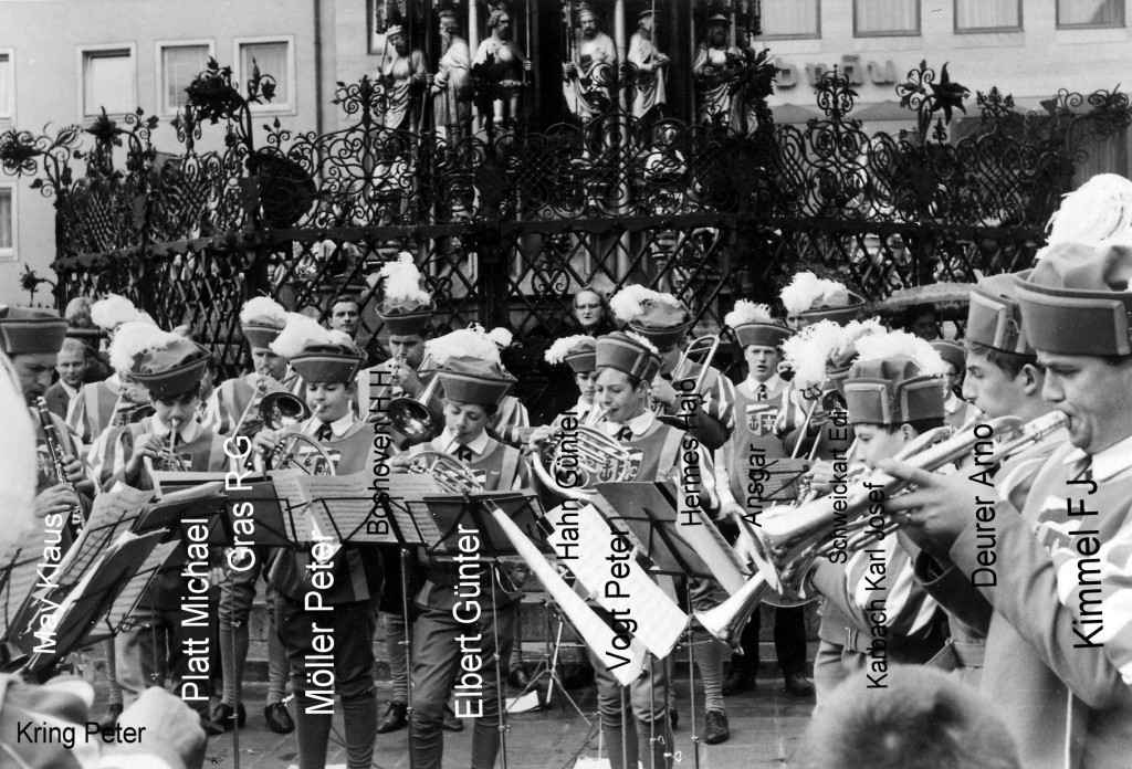 Kolpingkapelle gegründet 1966 / Auftritt in Nürnberg