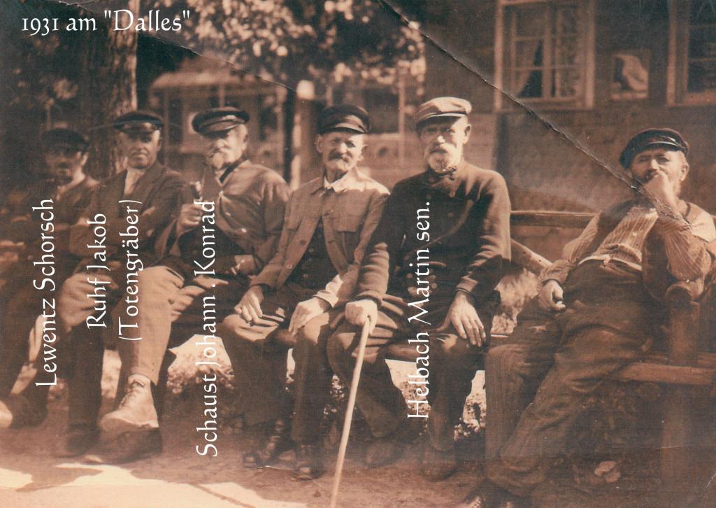 "Alte Fahrensleute  (Schüffische ) ""am Dalles"" 1931"