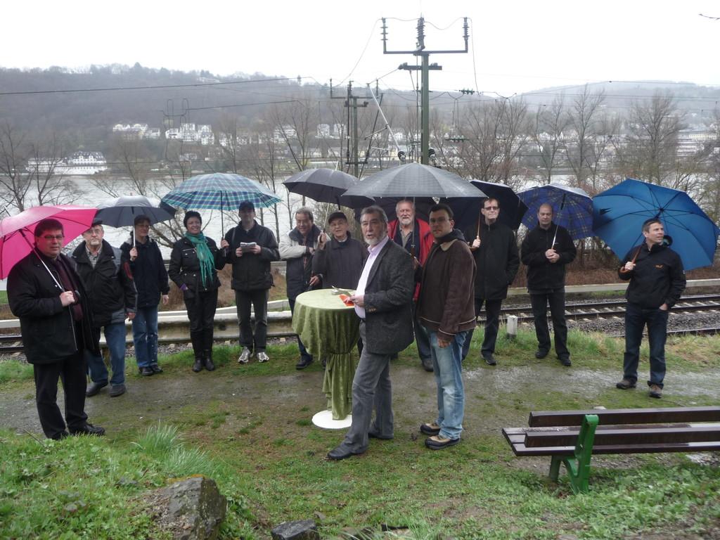 26.03.2010. Einweihung der Flütz bei Regen