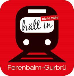 Logo IG Bahnhof Ferenbalm-Gurbrü, Unser LOGO, gestaltet von Andrea Romann