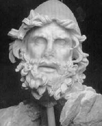 Skulptura antike e Uliksit me plis të bardhë