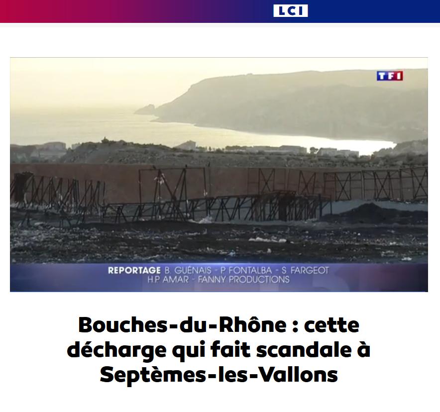 """07.03.2017 > TF1 13H : """"Septèmes-les-Vallons : cette décharge qui fait scandale"""""""