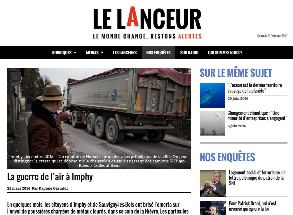 """25.03.2016 > LELANCEUR.FR : """"La guerre de l'air à Imphy"""""""