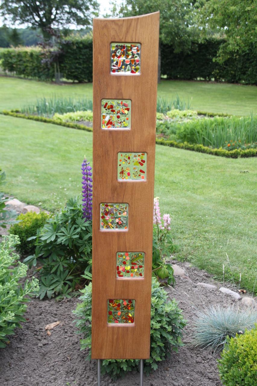 Metall stele garten wohn design for Gartenschmuck aus glas